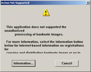 Scanner refusing Money